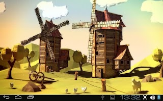 Screenshot of Paper Windmills 3D Pro lwp