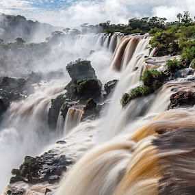 Top of Iguazu Falls by Jay Gould - Landscapes Waterscapes ( slow water, waterfalls, iguazu falls, south america, long exposure )