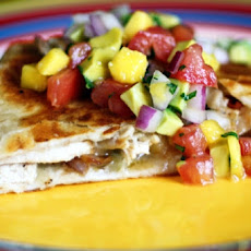 Cinco De Mango Chicken Quesadillas