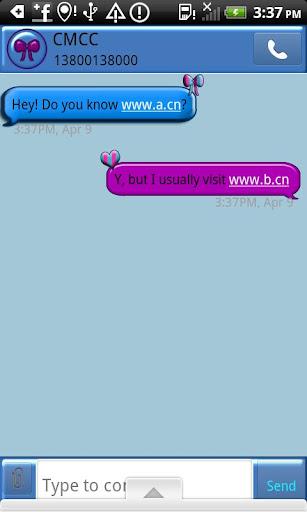 GO SMS THEME BowsNHearts