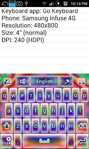 Psychedelic Tie Dye Keyboard