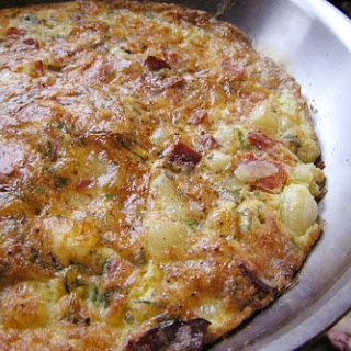 Frittata with Potatoes, Bacon, and Mint