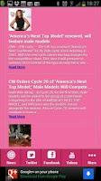 Screenshot of Americas next top model news