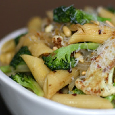 Sicilian Broccoli and Cauliflower Pasta