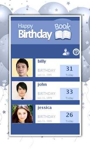 Birthdays Reminder Book Pro