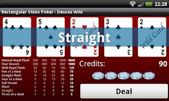 Screenshot of Rectangular Video Poker
