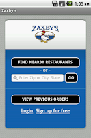 Screenshot of Zaxby's