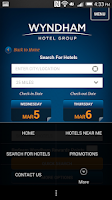 Screenshot of Wyndham Hotel Group