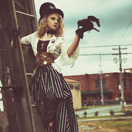 Steampunk Friend by Beth Schneckenburger - People Fashion ( raven, old, steampunk, iron, abandoned )