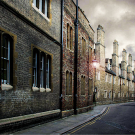 Cambridge Street's by Stephanie Veronique - City,  Street & Park  Neighborhoods ( triniry lane, street, road, cambridge )