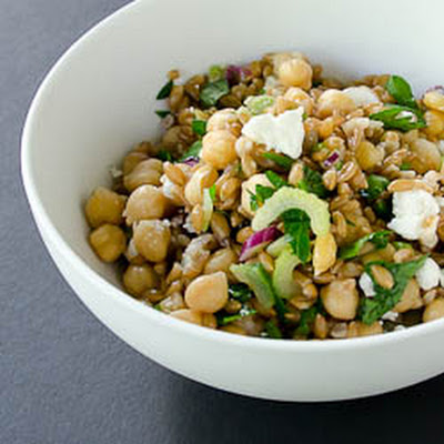 Antipasti Party Farro and Chickpea Salad
