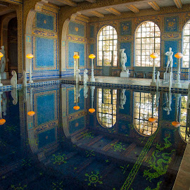 Hearst Castle Bathing Pool by Jim Downey - Buildings & Architecture Public & Historical ( greek fascade, opulent, california, cambria, excessive )