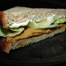 Peanut Butter, Mayonnaise, and Lettuce Sandwich