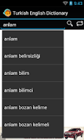 Screenshot of English Turkish Dictionary