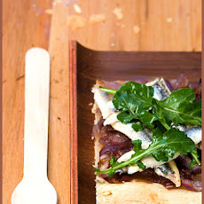 Caramelized Onion and Fresh Anchovy Tart