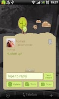 Screenshot of GO SMS Pro Retro Bird Theme