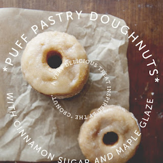PUFF PASTRY DONUTS WITH CINNAMON SUGAR + MAPLE GLAZE