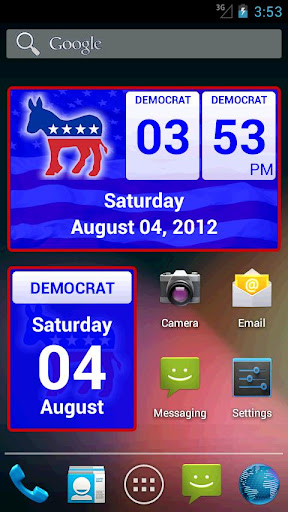 【免費個人化App】Democrat Clock Widget-APP點子
