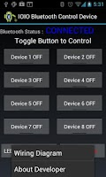 Screenshot of IOIO Bluetooth Device Control