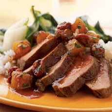 Duck Breast with Pineapple-Cherry Chutney