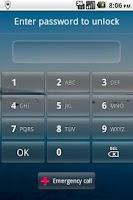 Screenshot of Locale Password Lock Plug-in