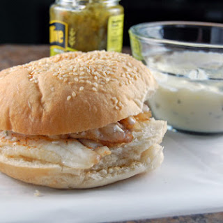 Grilled Fish Sandwich with Homemade Tartar Sauce