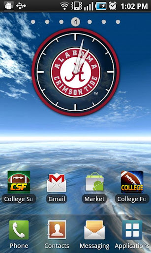 Official Alabama Live Clock - screenshot