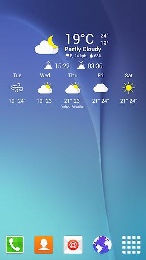 Weather Icons SGS6 for Chronus - screenshot