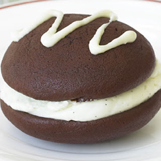Mini Red Velvet Whoopie Pies with Marshmallow Filling