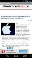 Screenshot of Colombian News