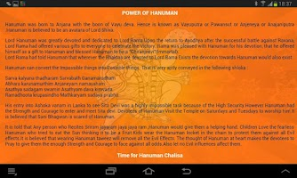 Screenshot of Hanuman Chalisa