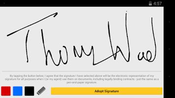 Screenshot of DocuSign - Sign & Send Docs