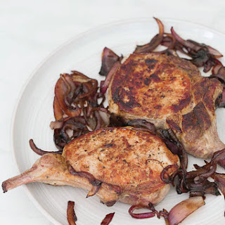 Pork Chops with Balsamic Red Onions