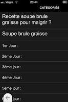 Screenshot of Le Régime Brûle-graisses