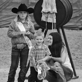 Stick Horse Cowboy by Cheryl Petretti - Novices Only Portraits & People ( homecoming, little cowboy, stick horse, county fair, celebration )