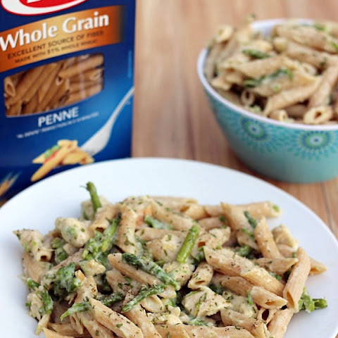 Healthy Chicken Penne Alfredo