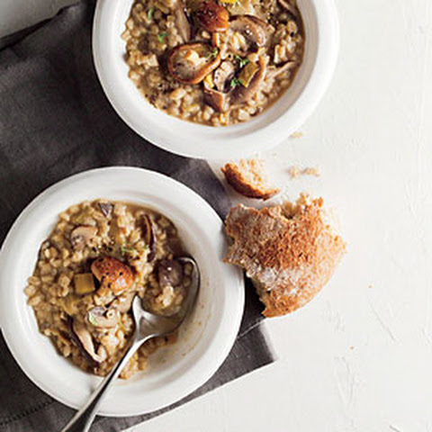 Savory Barley Soup With Wild Mushrooms And Thyme Recipes — Dishmaps