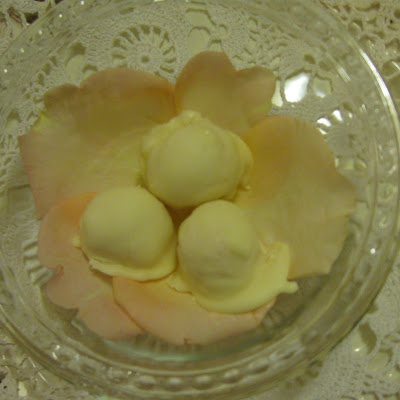Rose-Scented Gelato-White Chocolate Bon Bons