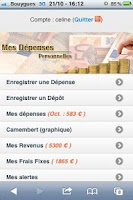 Screenshot of Gestion du Budget & Dépenses