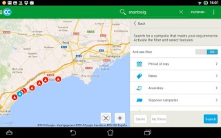 Screenshot of CampingCard ACSI Campsites