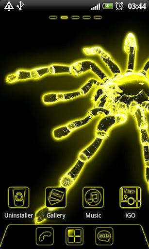 Yellow neon Go Launcher theme