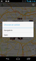 Screenshot of Contacts on Map