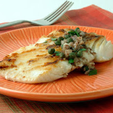 Grilled Halibut with Lemon-Caper Vinaigrette