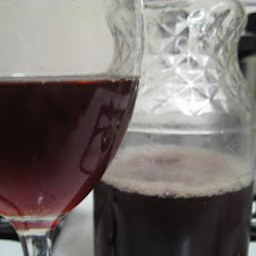 Homemade Black Currant Wine