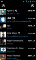 Screenshot of GOSMS WP7 Blue Theme Free