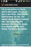 Screenshot of Daily Bible Verses Free
