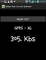 Screenshot of SPEED TEST WIFI 3G INTERNET 2G