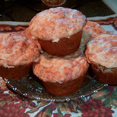 Salmon and Corn Muffins With Cheese Spread