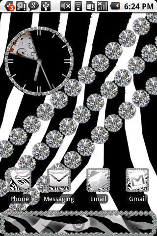 Zebra Diamond Theme