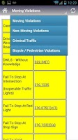 Screenshot of Florida Traffic Violation 2012